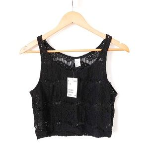 ✨2 for $22✨ H&M Lace Black Crop Top